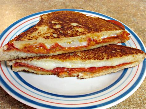 Sandwich Pizza Mozarela pepperoni pizza grilled cheese sandwich to be in the kitchen