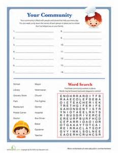 people in your community worksheet education com