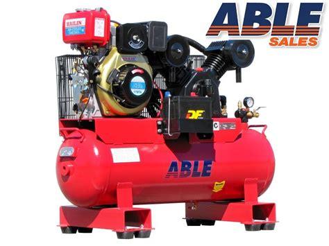 diesel air compressor hp lt psi cfm