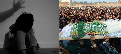 Kasur World grief in kasur as residents mourn murder of minor victim