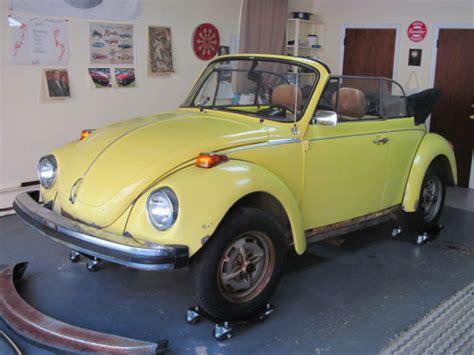 volkswagen lemon 1979 vw beetle convertible lemon yellow