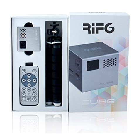 mobile projector cube rif6 cube 2 inch pico dlp high res mobile projector 120
