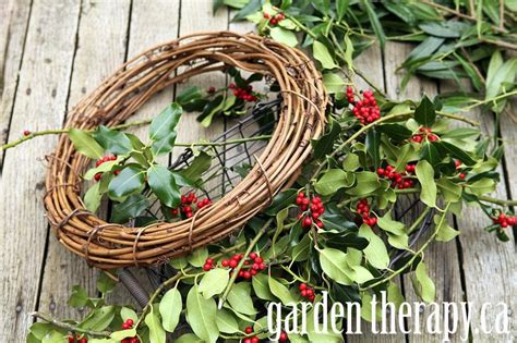 how to make wreaths a very merry holly wreath garden therapy