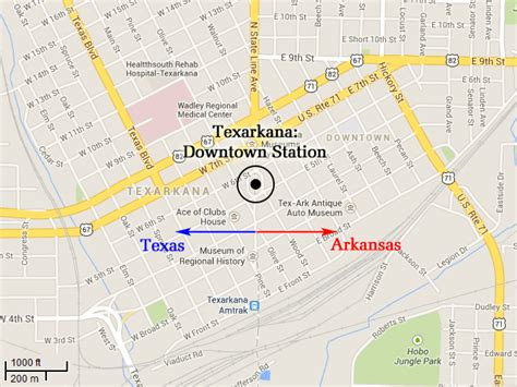 map of texarkana texas postlandia texarkana the post office in two states