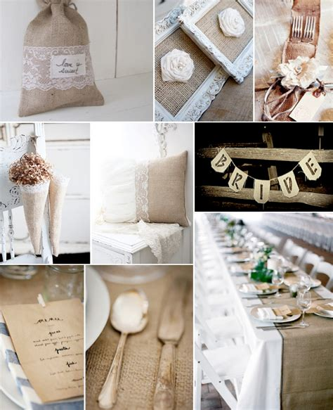 burlap and lace wedding ideas weddings by lilly
