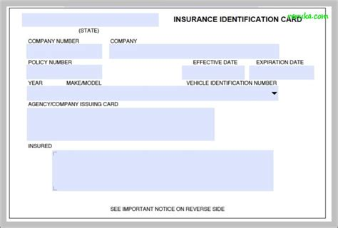 auto insurance card template free auto insurance card template free europaludi