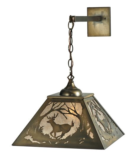 Hanging Wall Sconce Meyda 110131 Deer At Hanging Wall Sconce
