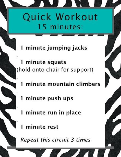 workout 15 minutes health fitness