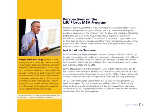 Lsu Mba Entrepreneurship by Time Master Of Business Administration Program At