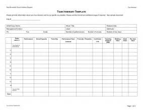 Itinerary Template by Doc 509634 Trip Itinerary Template 9 Useful Travel