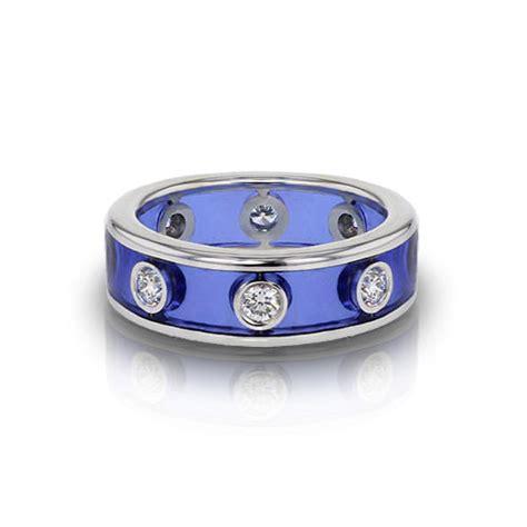 enamel wedding ring jewelry designs