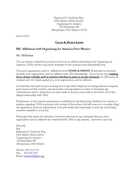 Cease And Desist Letter Template Playbestonlinegames Cease And Desist Letter Template