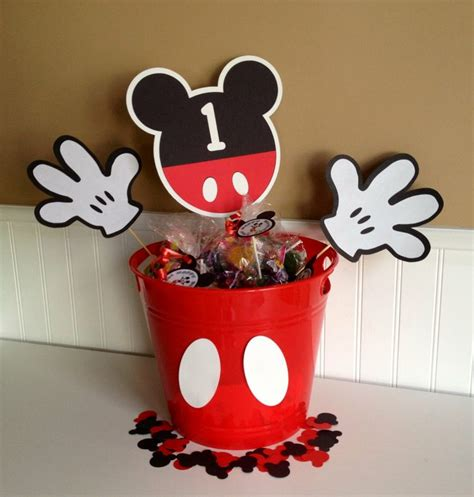Mickey Mouse Birthday Party Table Centerpiece Or Gift Centerpieces For Mickey Mouse Birthday