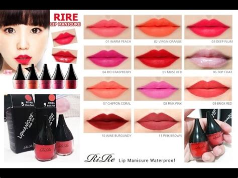 Lip Manicure Rire rire lip manicure waterproof review