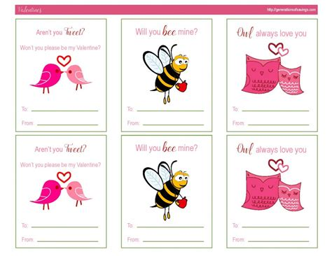 Awesome Free Printable Valentines Day Cards Generations