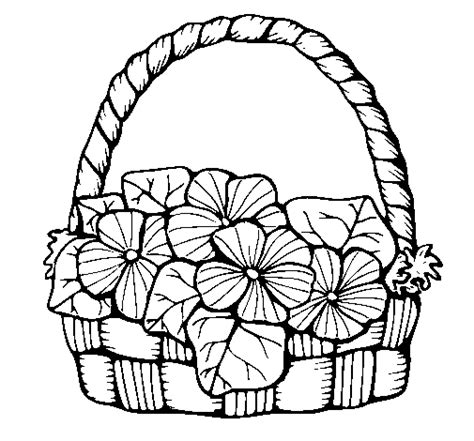 colored page basket of flowers 6 painted by u0435 u043a