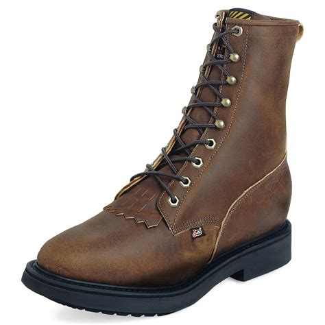 mens narrow width boots mens work boots leather steel toe 8 aged bark 00764 narrow