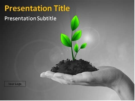 Download Free Plant In Hand Powerpoint Template Plant Powerpoint Templates Free