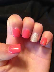 color acrylic nails solid color acrylic glitter nail nail designs