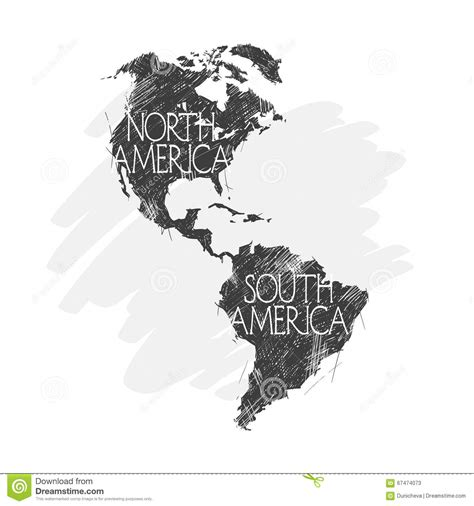 america map vector image and south america map background vector stock vector