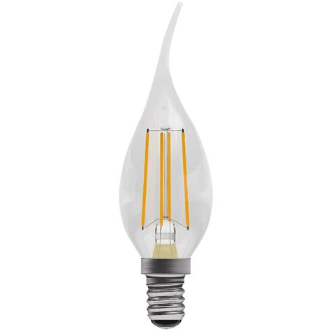 bell pro led bent tip 4w candle 470lm ses e14 warm white 05026