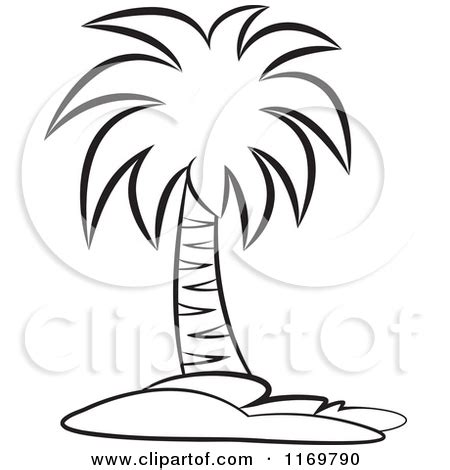 Palm Tree Stencil Outline by Palm Tree Free Coloring Pages Coloring Pages