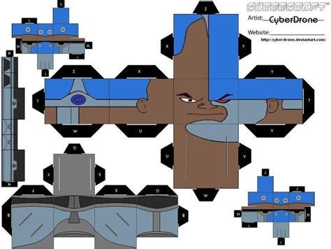3d Origami Cyborg 441 best images about cubeecraft on