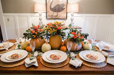 easy thanksgiving tablescape the southern style guide
