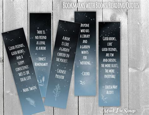 printable bookmarks with quotes from books printable bookmarks book quotes by mudpiesoup on etsy
