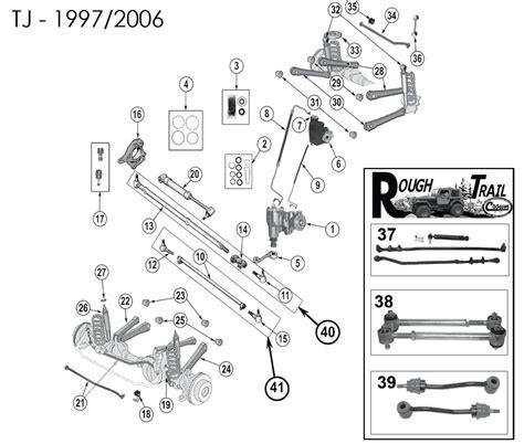 jeep jk suspension diagram jeep wrangler steering stabilizer replacement