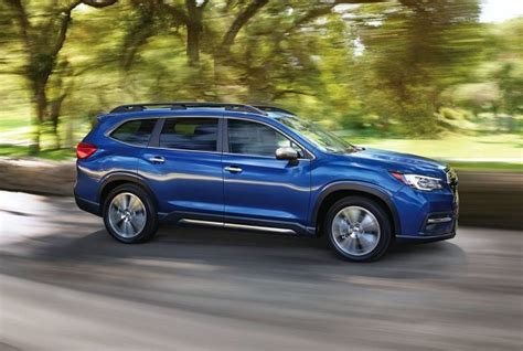 subaru crossover blue the subaru ascent 3 row crossover goes big and bold
