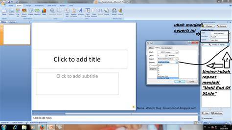 Cara Membuat Power Point Windows 2007 | cara membuat tulisan berjalan di power point 2007 seperti