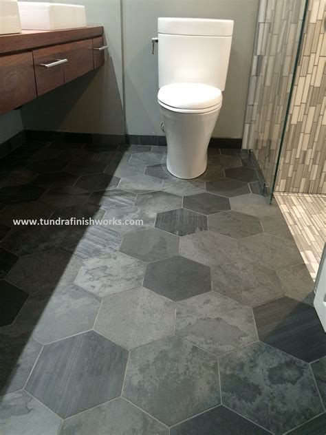 How To Install Tile Flooring In Bathroom Hex Tile Flooring Gallery Tile Flooring Design Ideas