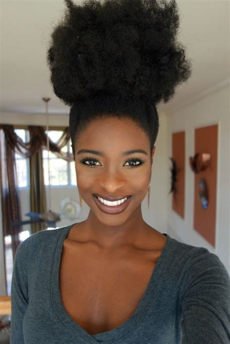 natural hairstyles afro puff iamhannalashay yomilewa her beauty cannot be defined