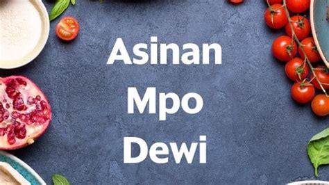 asinan mpo dewi kaliabang tengah food delivery menu