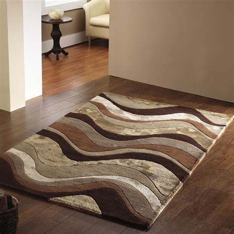 brown patterned bathroom rugs brown and beige bathroom saria wave chocolate beige