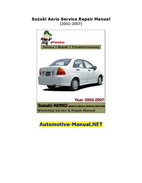 auto repair manual free download 2007 suzuki aerio seat position control service manual free download parts manuals 2005 suzuki