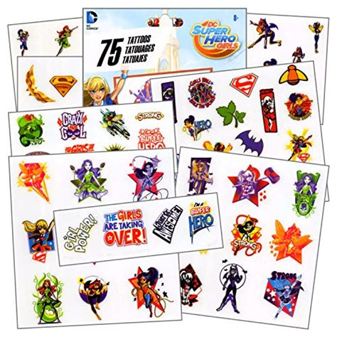 superhero temporary tattoos dc 75 assorted temporary tattoos