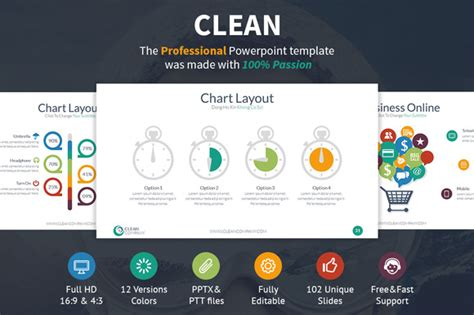 Clean Powerpoint Template Presentation Templates On Creative Market Clean Professional Powerpoint Templates