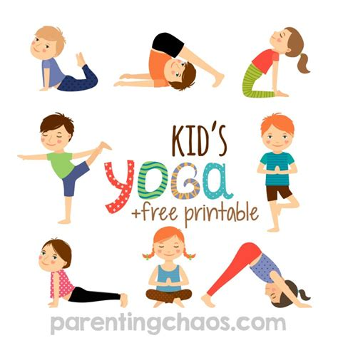 printable children s yoga cards yoga for kids free printable parenting chaos