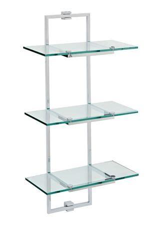 Glass Bathroom Shelving Unit Cubic Glass Bathroom Shelving Unit D 233 Co Organisation De L Espace