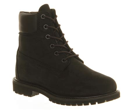 black boots for womens timberland premium 6 boot black boots ebay