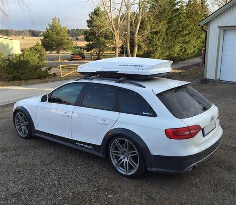 Audi Carrier by White Audi Allroad With Rooftop Carrier Audi White