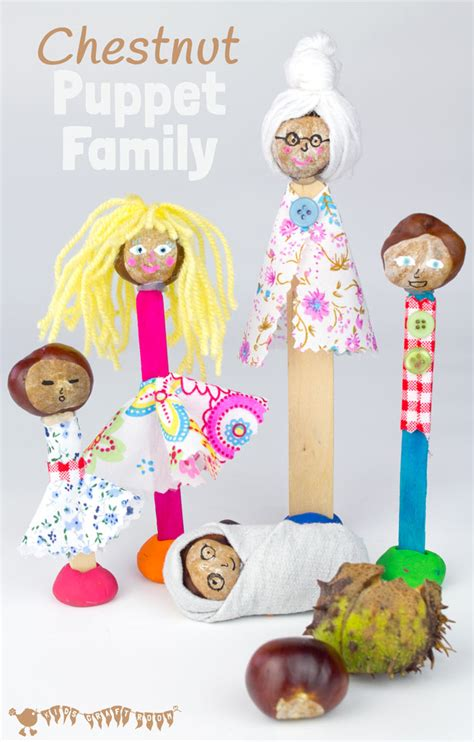 family crafts for puppet family chestnut craft buckeye craft craft room