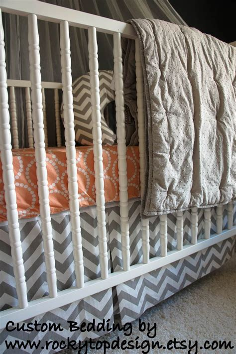 peach baby bedding love this peach and gray baby bedding nursery crib bedding pinte