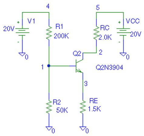 bjt transistor in pspice pspice exles for ee 253