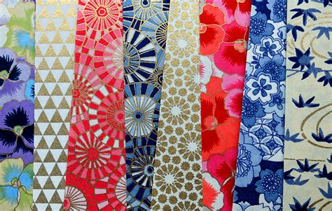 Japanese Paper Crafts Free - chiyogami yuzen papers at the japanese paper place
