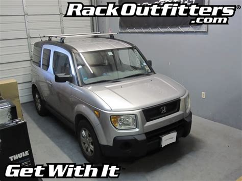 2004 Honda Element Roof Rack by Honda Element With Thule 460r Podium Aeroblade Get With It Rack Outfitters Car Rack