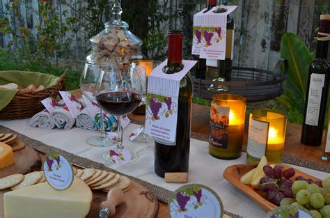 wine birthday candle wine cheese party and favors