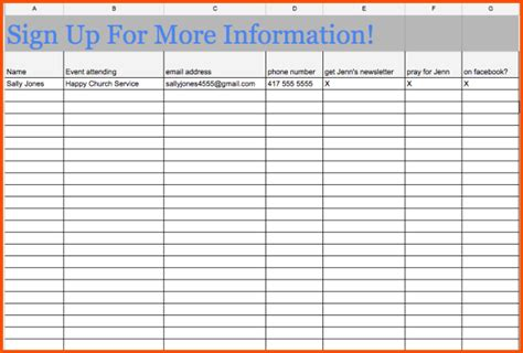 how to make a signup sheet how to make a signup sheet on